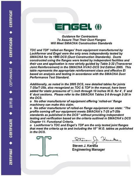 Engel Version of Certificate